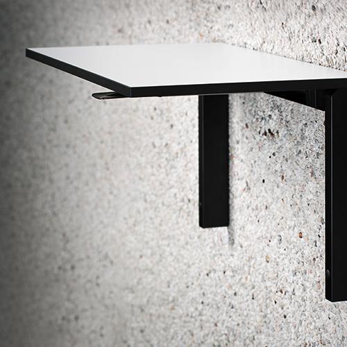 Vaegbord - Wallfold - foldebord - hvid - sort