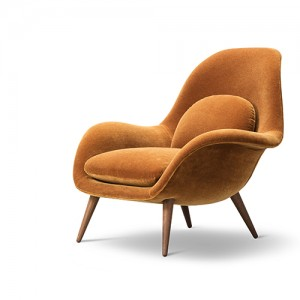Swoon - kontorindretning – loungesaet – laenestol-orange