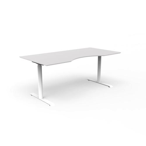 JAZZ-haevesaenkebord- arbejdsstation – kontor - hvidt