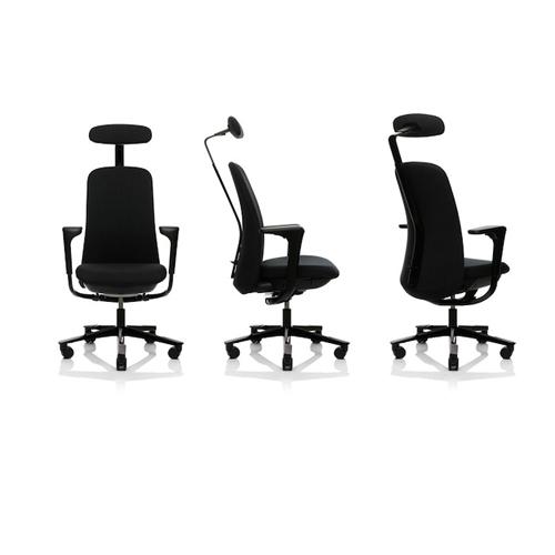 Haag-SoFi - arbejdsstol – ergonomi -armlaen - nakkestoette