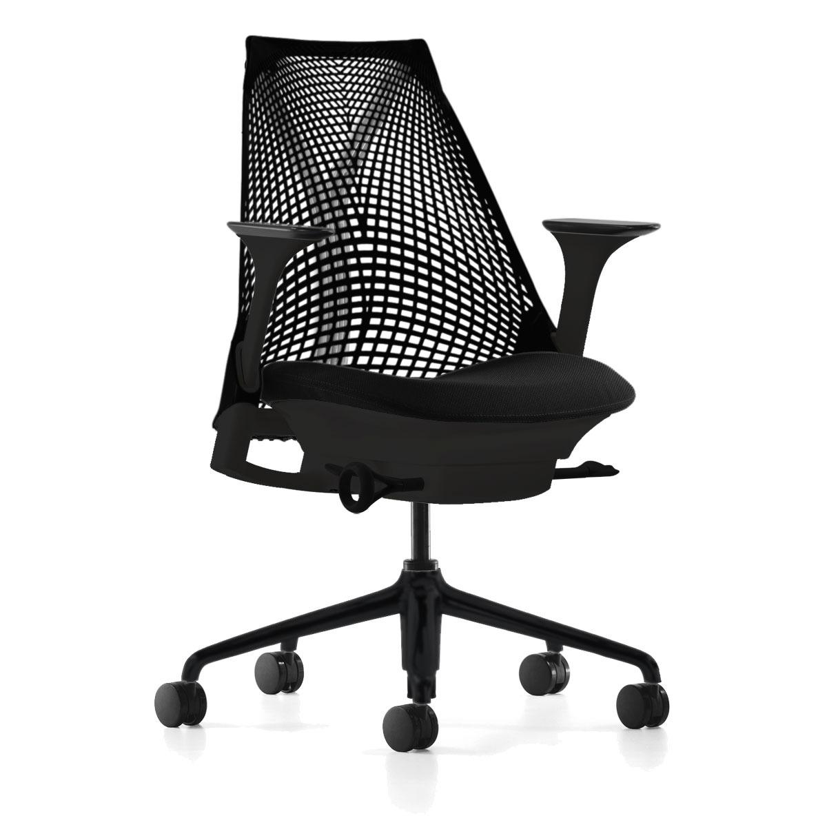 SAYL-Kontorstole - arbejdsstol – ergonomi -sort