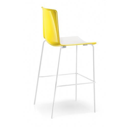 Pedrali-Barstol – hoej stol – Tweet – kontorindretning -gul