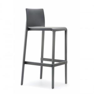 Barstol – hoej stol – Volt -Pedrali – kontorindretning - graa