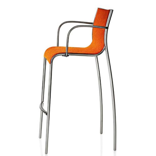 Barstol – hoej stol – Paso – kontorindretning-orange