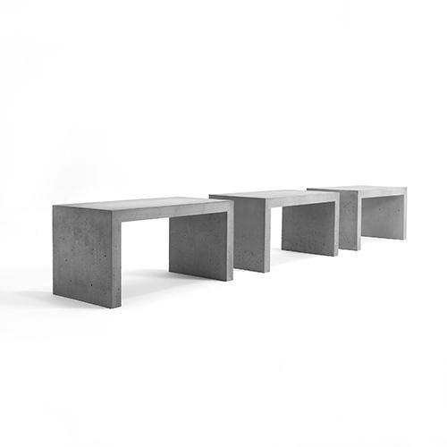 Offentlig indretning - beton - baenk