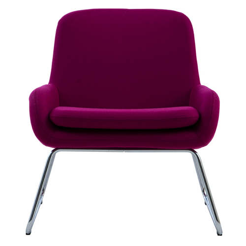 Coco - kontorindretning – loungesaet - laenestol-pink
