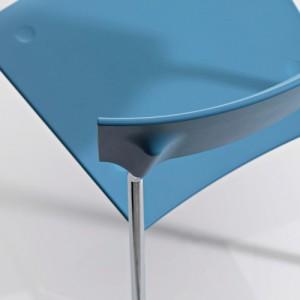 Kantinestol – Pure – kontorindretning -konferencestole-blaa