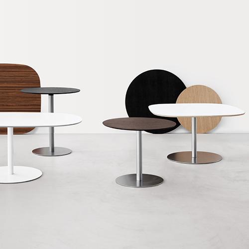 Cafebord – moedebord - hvidt - trae – sort-Rondo