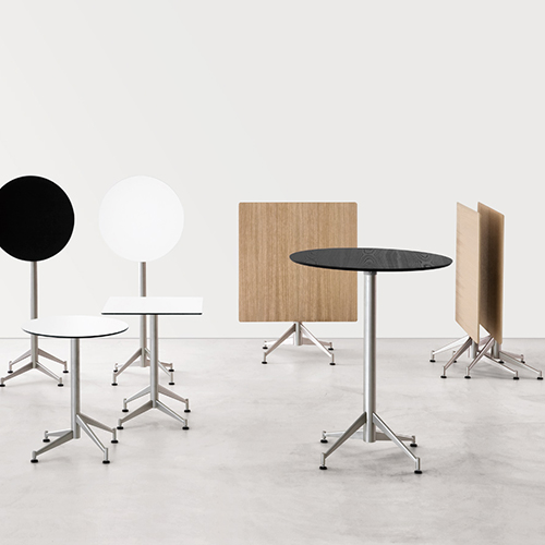 Cafebord – barbord - hvidt - trae – sort-Seltz
