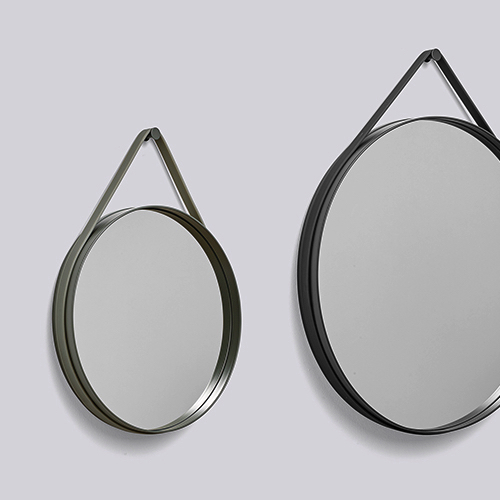 strap mirror fra hay spejl med flot rem spejl til. Black Bedroom Furniture Sets. Home Design Ideas
