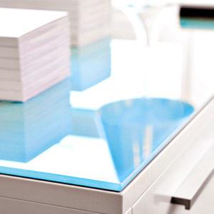 Chat Board - Custom - Glastopplade - Topplade - Reol - Kontortilbehoer