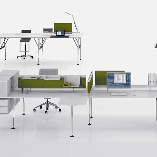 Vitra - Ad -Hoc - Skrivebord - Modulopbygget- Kontormoebler - Design