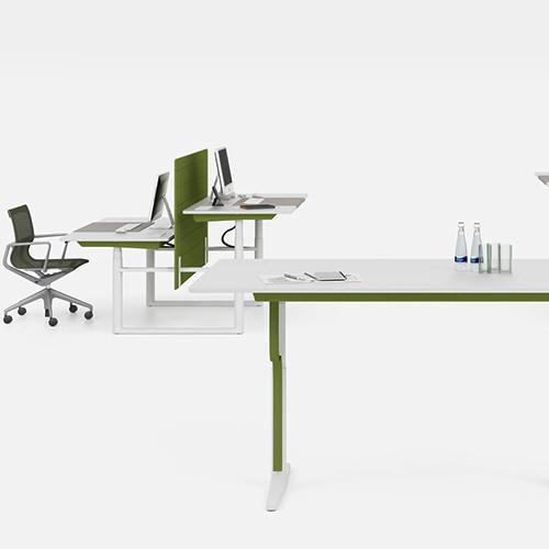 Vitra - Tyde - Haevesaenkebord - Skrivebord - Kontormoebler - Design
