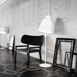 Caravaggio-Floor-hvid – belysning – design – gulvlampe