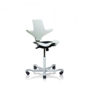 Haag-Kontorstole - arbejdsstol –Capisco– skrivebordsstol-hvid