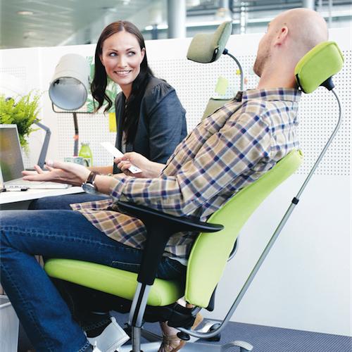 Haag-H05-Kontorstole - arbejdsstol – ergonomi - armlaen-nakkestoette