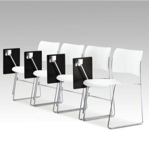 moedestol – 404-konferencestole-hvid - med- bord