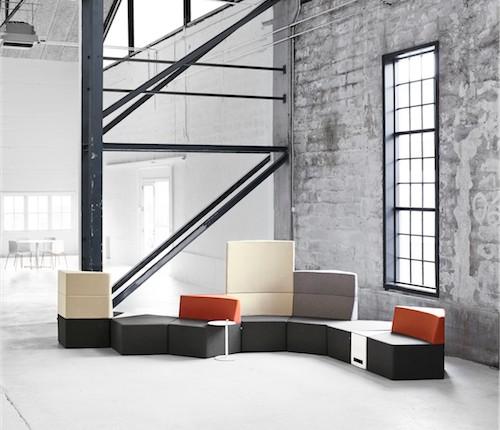 Modulsofa - lounge - kontorindretning - loungesaet-Manhattan