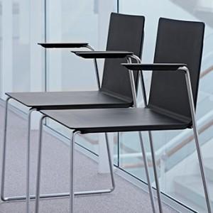 Kantinestol –Dry- sort – kontorindretning -konferencestole
