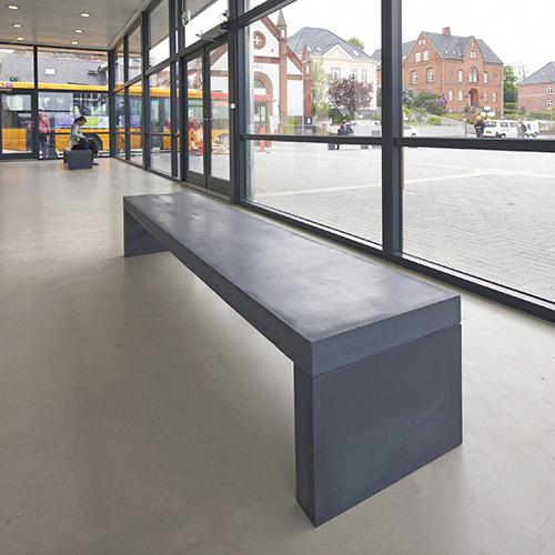 Avanceret Bænk - Udendørsmøbler - Udemøbler - Kontorindretning - Beton XI27