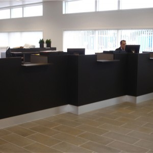 Reception - skranke - desk – kontor-Backup