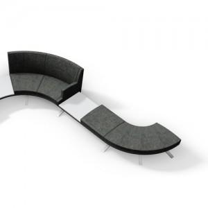 Ufo-Modulsofa - lounge - kontorindretning – loungesaet