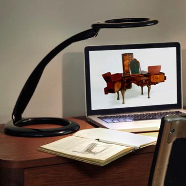 360-Skrivebordslampe - Skrivebordslamper - Kontormoebler - Bordlampe– belysning -