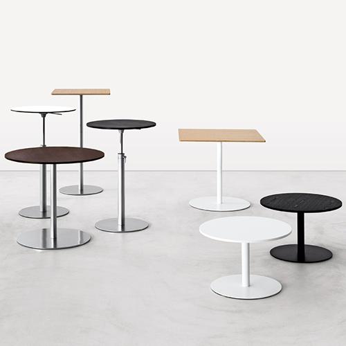 Cafebord – barbord - hvidt - trae - sort-Brio