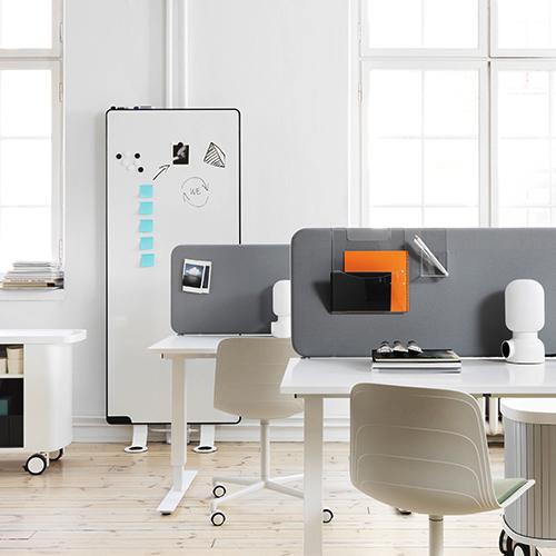 Abstracta - Softline- 50 - Akustik - Kontormoebler - Bordskaerm - Skillevaeg