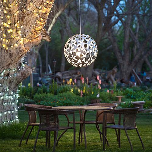 Coral Moderne lysekrone Rund stor pendel Bæredygtig